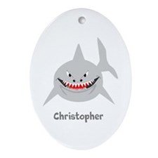 Personalized Shark Design Ornament (Oval)