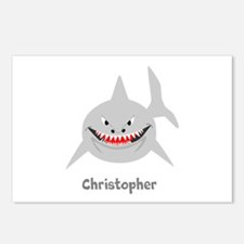 Personalized Shark Design Postcards (Package of 8)