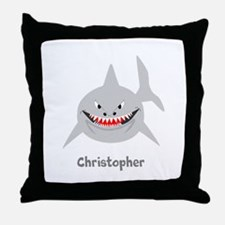 Personalized Shark Design Throw Pillow