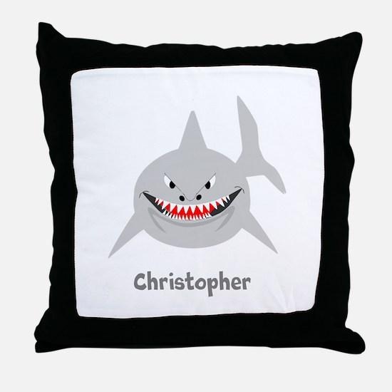 Personalized Shark Design Throw Pillow