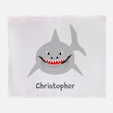 Personalized Shark Design Throw Blanket