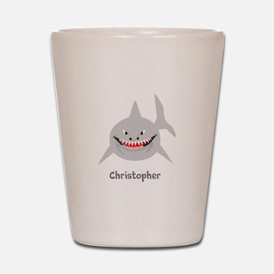 Personalized Shark Design Shot Glass