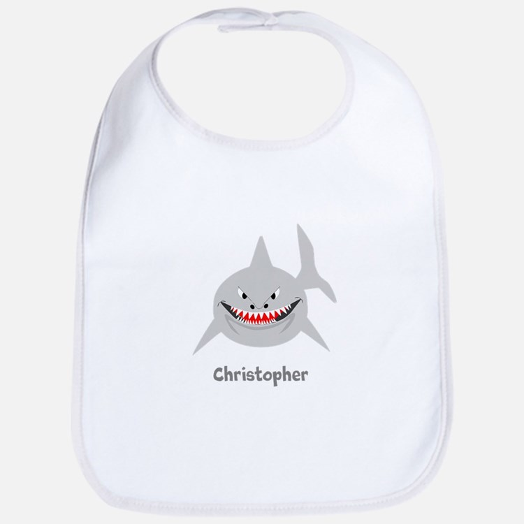 Personalized Shark Design Bib