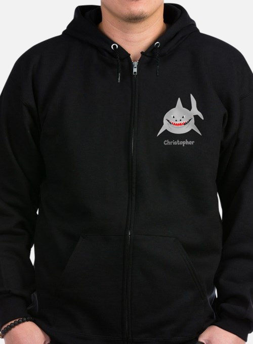 Personalized Shark Design Zip Hoody