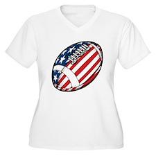 Football Plus Size T-Shirt