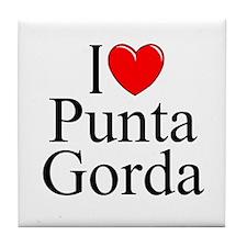 """I Love Punta Gorda"" Tile Coaster"