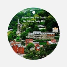 Harpers Ferry Personalized Family Ornament (round)