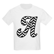 Letter A Chevron Monogram T-Shirt