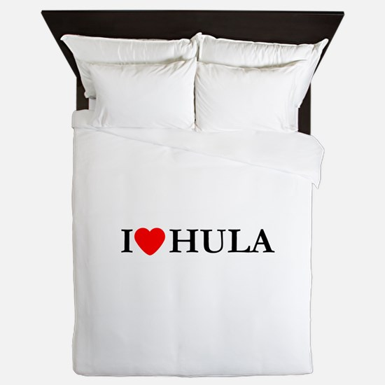 I Love Hula Queen Duvet