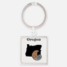 Oregon-land of the beavers Keychains