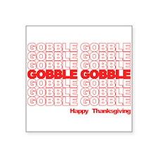 Gobble Gobble Retro Thanksgiving Sticker