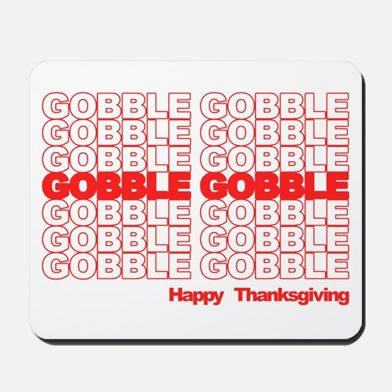 Gobble Gobble Retro Thanksgiving Mousepad