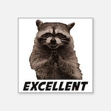 Excellent Evil Plotting Raccoon Sticker