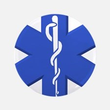 """EMT star of life 3.5"""" Button (100 pack)"""