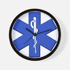 EMT star of life Wall Clock