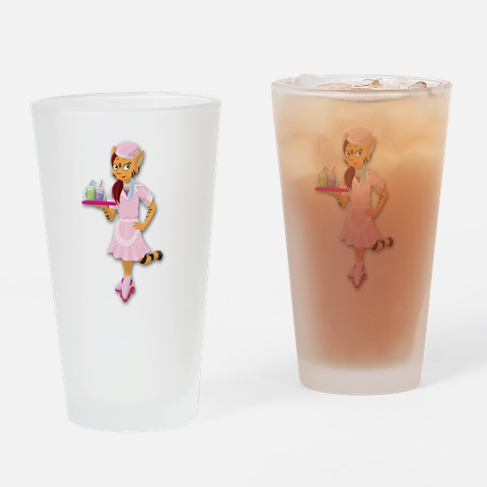 Funny Anthro Drinking Glass