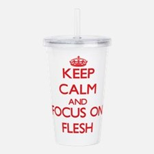 Cool Keep calm and eat beef Acrylic Double-wall Tumbler