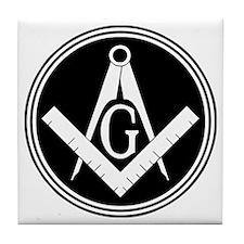 Masonic Square and Compass Tile Coaster
