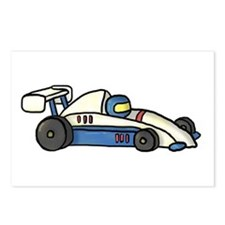 Cute Race Car Doodle For Kids Postcards (Package o