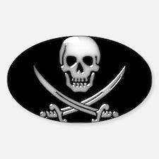 Glassy Skull and Cross Sword Decal