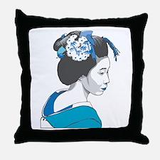 Oriental Geisha Throw Pillow
