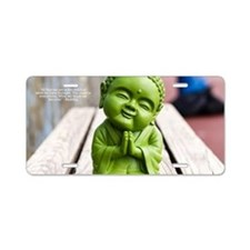 tiny buddha Aluminum License Plate