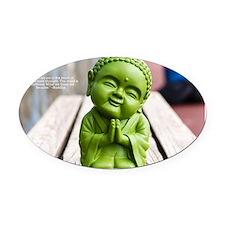 tiny buddha Oval Car Magnet