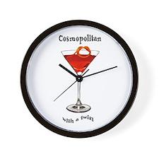 Cosmopolitan Martini Wall Clock
