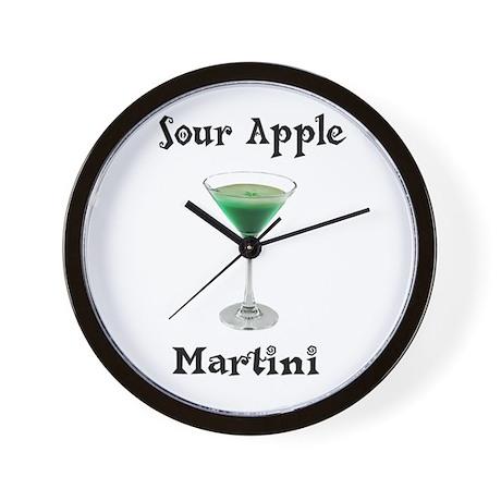 Sour Apple Martini Wall Clock