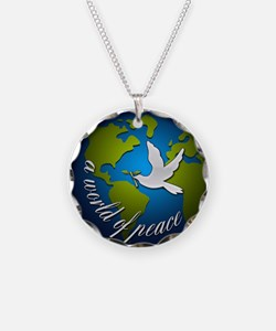 Funny World peace Necklace