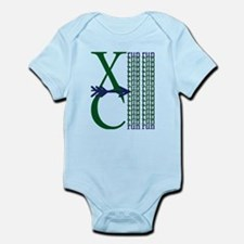 XC Run Green Blue Body Suit