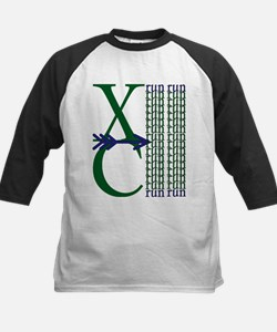 XC Run Dark Green Navy Baseball Jersey