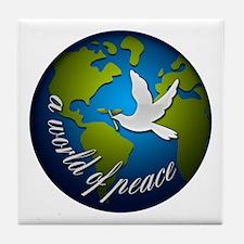 Unique Peace on earth Tile Coaster