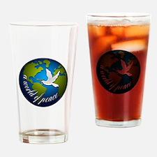 Cute Birders world Drinking Glass