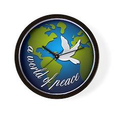 Unique Peace on earth Wall Clock