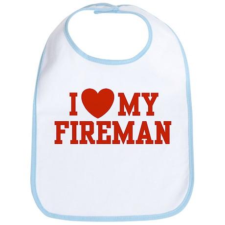 I Love My Fireman Bib