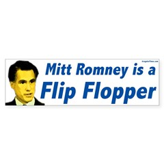 Mitt Romney Flip Flopper Bumper Bumper Sticker