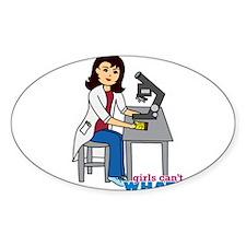 Scientist Girl - Medium Decal
