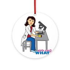 Scientist Girl - Medium Ornament (Round)