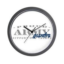 Proud Army Grandpa (blue) Wall Clock
