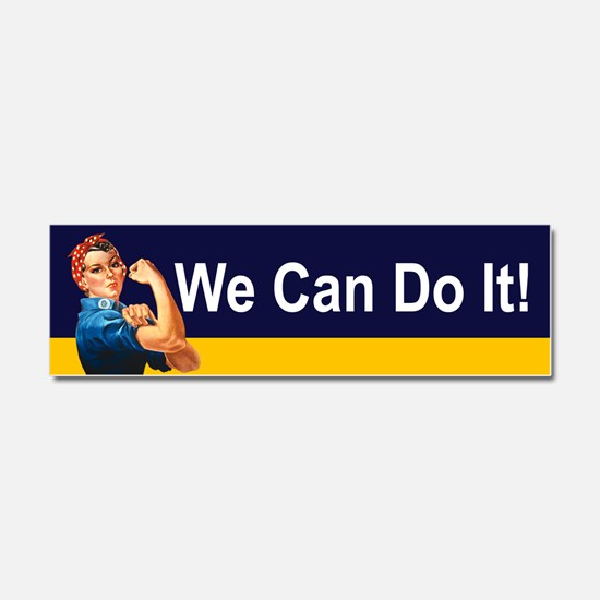 Cute Girls can do anything Car Magnet 10 x 3