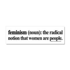Unique Feminism Car Magnet 10 x 3