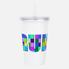 Cute Track runners Acrylic Double-wall Tumbler