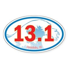 Honolulu Half-Marathon 13.1 Euro Oval Car Decal