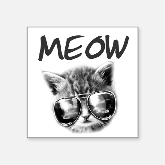 "COOL CAT Square Sticker 3"" x 3"""
