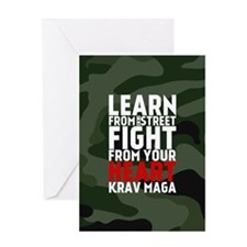 Learn From The Street Krav Maga Greeting Cards