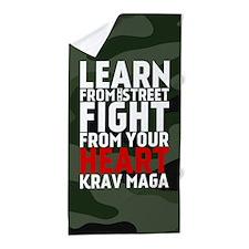 Learn From The Street Krav Maga Beach Towel