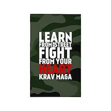 Learn From The Street Krav Maga 3'x5' Area Rug