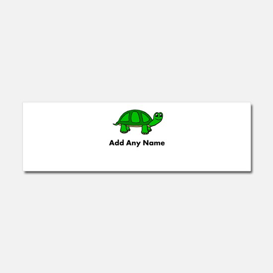 Turtle Design - Add Your Name! Car Magnet 10 x 3