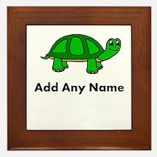 Turtle Design - Add Your Name! Framed Tile